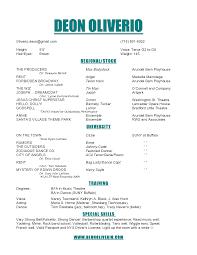 Theatre Resume Template Nardellidesign Com