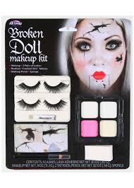 broken doll face makeup