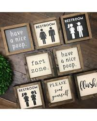 Amazing Holiday Deal: The Bathroom Collection Funny Bathroom Sign ...