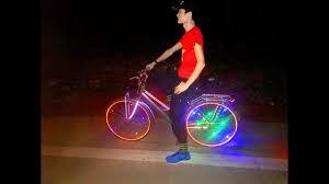 Test thử Xe Đạp Độ Đèn LED Siêu Đẹp ! bản HD P1 Bike led. - YouTube