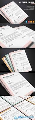 Clean Resume Template Vol5 628694 Uxfreecom