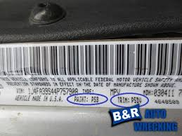 Trim Color Code Guide For Cars Trucks B R Autowrecking