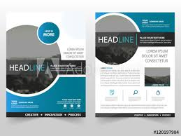 Brochure And Flyers Template Design In Vector Blue Circle Vector