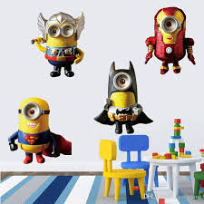 minion wall stickers beautiful 2016 children s cartoon superhero avengers deable me little of minion wall