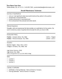 sample resume for maintenance technician unforgettable