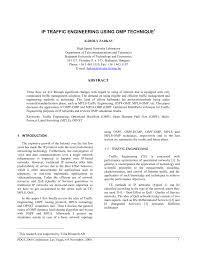 PDF) Ip traffic engineering using omp technique