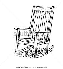 rocking chair drawing. Rocking Chair Drawing
