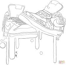 Nike Sneakers Coloring Page With Shoe Coloring Pages