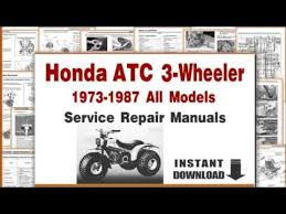 honda atc 200 wiring diagram honda image wiring honda atc trikes service repair manuals 1973 1987 on honda atc 200 wiring diagram