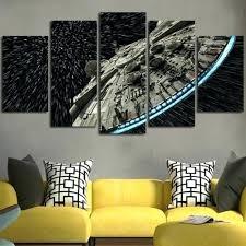 star wars canvas prints 5 panel star wars millennium falcon wall art painting star wars canvas on star wars wall art target with star wars canvas prints 5 panel star wars millennium falcon wall art