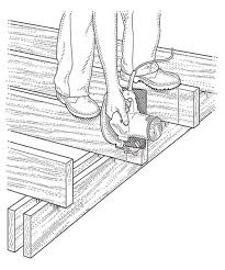 2427 best diy & modify images on pinterest woodwork, wood and home This Old House Table Plans trim the ends using a circular saw, slice through each joist along the vertical ask this old house picnic table plans