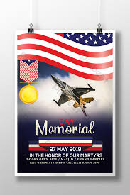 Memorial Day 2019 Flyer Templates With Jet In Sky Template
