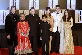 Amitabh Bachan And Family At Amitabh Bachchan Th Birthday Family - Amitabh bachchan house interior photos