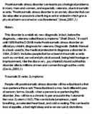 post traumatic stress disorder essay post traumatic stress disorder essay