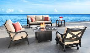 milano patio furniture cast aluminum