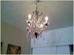 fabulous plug in chandelier plug in swag crystal chandelier edrexco