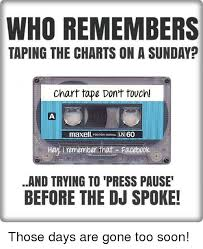 Who Remembers Taping The Charts Onasunday Chart Tape Dont