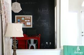 N DIY Chalkboard Wall In Home Office