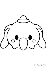 Tsum Tsum Disney Dumbo Coloring Pages Printable