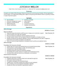 Free Resume Templates 2016 Office Managerme Samples Free Assistant Front Cv Sample Example 63