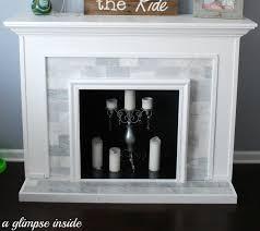 faux fireplace 1 2