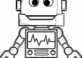 Small Picture Robot Coloring Pages Coloring4Freecom