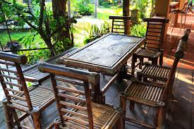 furniture made from bamboo. Download Garden Furniture Made From Bamboo Stock Photo - Image Of Brown, Rustic: 59660268 A