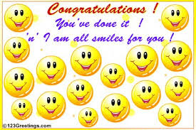 Image result for congratulations we made it smiley