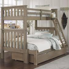 NE Kids Highlands Mission Style Twin Over Full Harper Bunk Bed