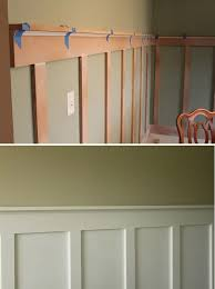 master bedroom between windows a less expensive way to have chair rail wainscoting diy board and batten step by step tutorial