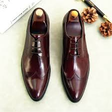 2018 black red fashion derby shoes genuine leather business mens wedding shoes mens dress shoes carved