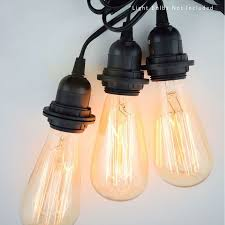 triple socket black pendant light lamp cord for lanterns 19 ft