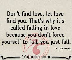 Finding Love Quotes Enchanting Don't Find Love Let Love Find You That's Why It's Called Falling