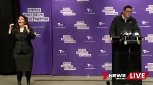 Alex chapman and lucy mae beers. 7news Melbourne Coronavirus Update Victorian Premier Daniel Andrews Facebook