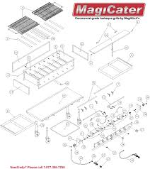 Garland Appliance Parts Magicater Outdoor Gas Charcoal Grills By Magikitchn
