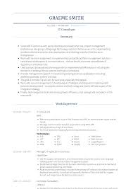 It Consultant Resume Sample Information Technology Consultant Resume Samples And