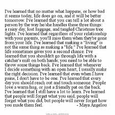 Long Quotes About Life Inspiration Long Life Quotes Magnificent 48 Best Life Lessons Maya Angelou