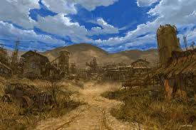 old west town painting google search