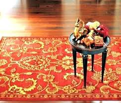 area rugs red black