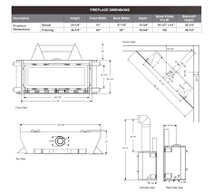 ctl 58 s direct vent fireplace dimensions page by stellar hearth s