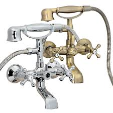 clawfoot tub fixtures. FREUER Vasca Collection: Classic Clawfoot Tub Faucet - Wall Mount, Polished Chrome Bathtub And Showerhead Systems Amazon.com Fixtures