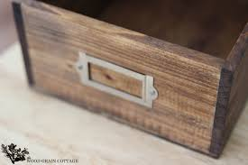 wooden recipe box plans designs