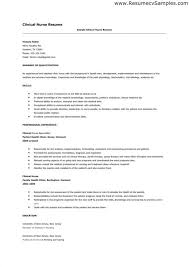 Nursing Resume Examples With Clinical Experience