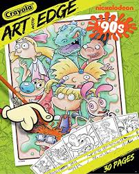 Amazoncom Crayola Art With Edge Coloring Pages Nickelodeon Toy