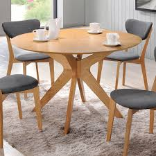 Round Country Kitchen Table Aeon Furniture Ae1203 Round Oak Brockton Round Dining Table In