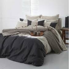 linen duvet cover charcoal natural worthynzhomeware orthy co nz