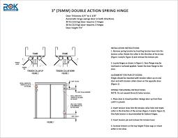 Double Swinging Doors Swinging Through Double Action Spring Hinge Rok Hardware