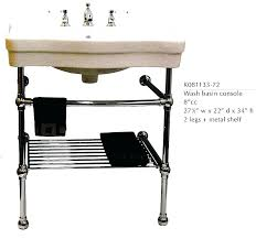 sink with metal legs. Interesting Legs Belle Console Sinks Sink With Metal Legs Wide Shelf Bathroom Vintage Chic  And Creative  Pedestal  Intended Sink With Metal Legs