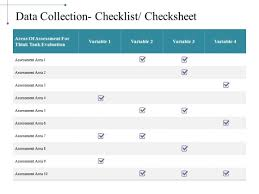 check list example data collection checklist checksheet ppt powerpoint