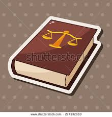 law book cartoon sticker icon